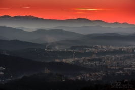 After sunset over Veliko Tarnovo