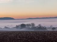 Morning mists near village of Sennik