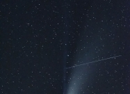 Comet NEOWISE and meteor trail