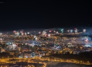 New Year's eve fireworks in Veliko Turnovo