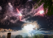 3D Mapping laser show fireworks