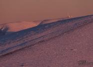 Botev peak at sunset lights