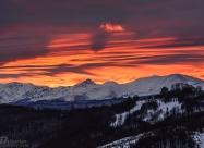 Sunrise over Kupena and Ambaritza peaks
