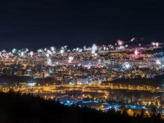 Новогодишни фойерверки във Велико Търново 2020