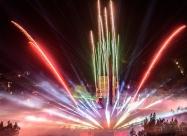 ЗD Мапинг лазерно шоу и заря