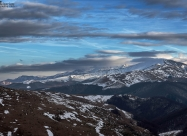 View to east at highest peaks of Stara Planina mountain