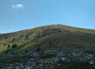 Слизането. Поглед назад към Гоцев връх