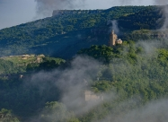 Morning mists over Tsarevets fortress