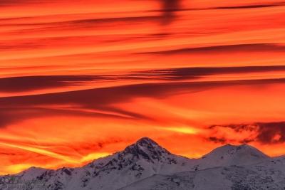Sunrise over Kupena peak
