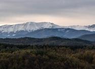 Панорамна снимка на алпийската част на Стара Планина от север