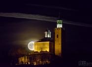 Super Moon and Tsarevets fortress in Veliko Tarnovo