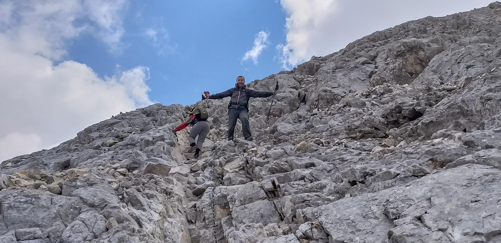 Стръмното изкачване на Вихрен откъм Кутело