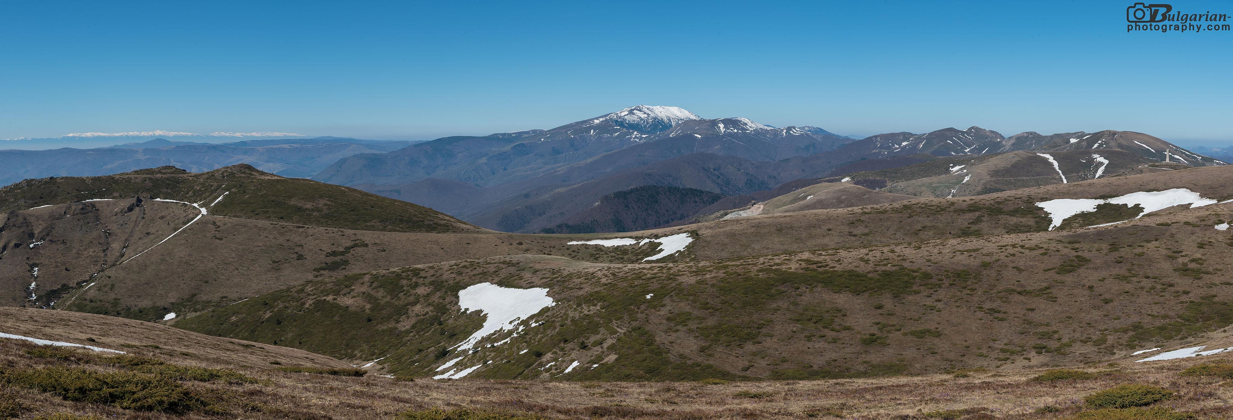 Панорама от пътеката в посока запад