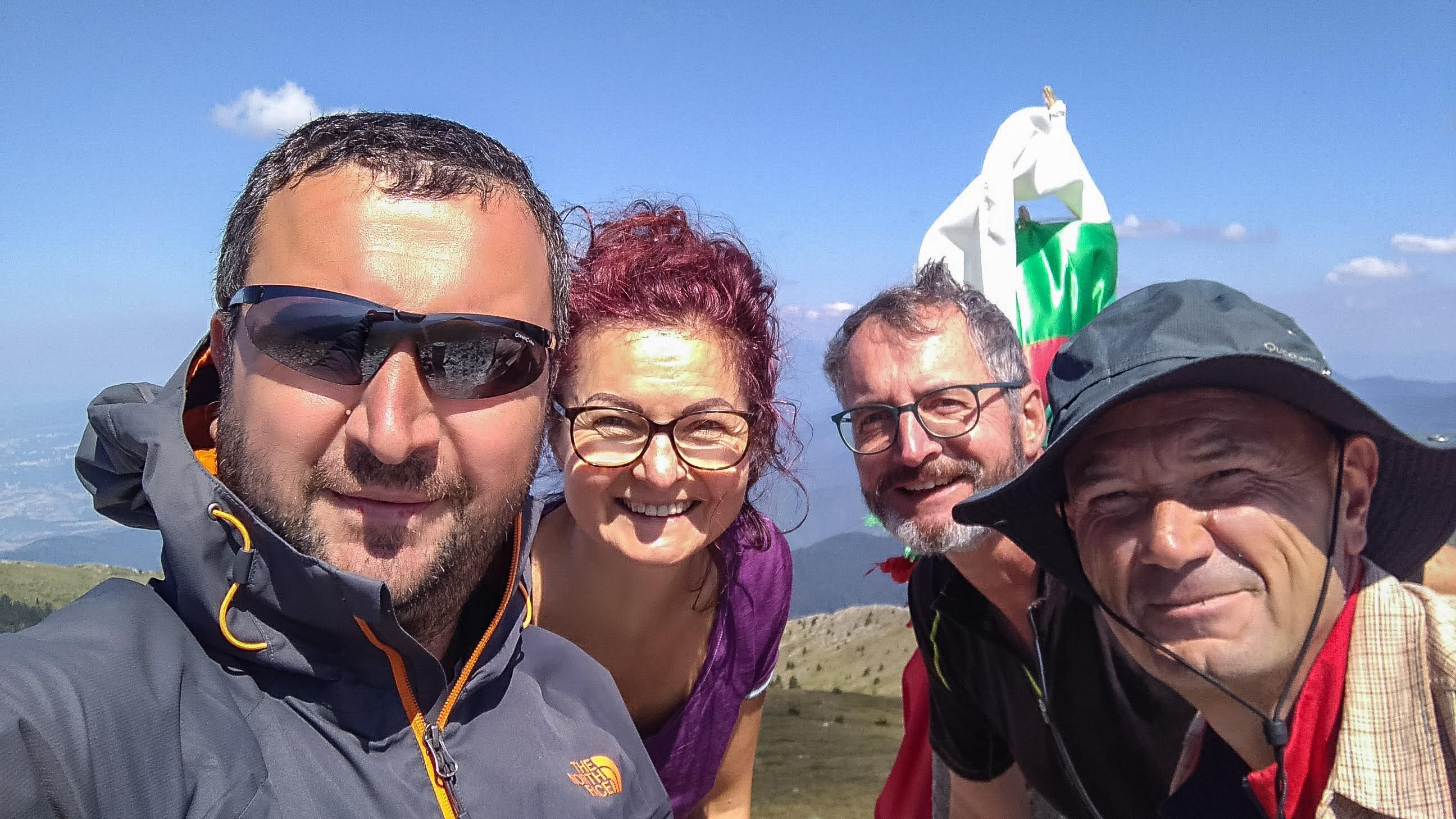 Компанията от последните дни - от ляво Аз, Милена, Марти и Жоро