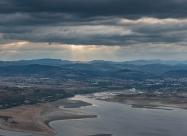 Studen Kladenets dam and the town of Kardzhali