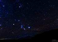 Съзвездието Орион над връх Голям Кадемлия
