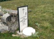 Паметникът на загиналото момче при инцидента с товаренето на дърва