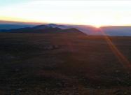 Залезът от връх Ботев. И пак да спомена, че онова най-високото в далечината е връх Вежен