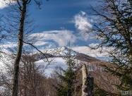 Поглед към връх Вълча глава на влизане в гората