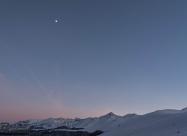 След залезно над алпийската част на Стара планина