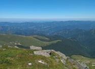 На връх Тетевенска Баба. Поглед към село Рибарица