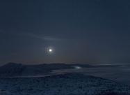 Луната над хижа Рилски езера