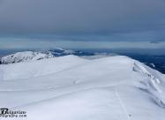 Поглед към билото на Стара Планина. На зад се виждат връх Вежен, а след него и Етрополските зъбери
