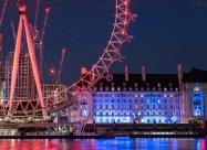 Лондонското око през нощта