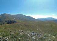 На връх Русоватец. Поглед назад по маршрута