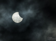 Partial solar eclipse first phase