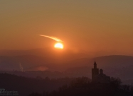 Sunset over Veliko Tarnovo, 8 December 2016.