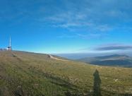 Връх Ботев. Това било дето се вижда най-далече е връх Вежен