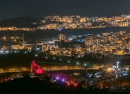 Audio-visual show Sound and Light in front of Veliko Tarnovo