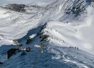 Пътеката надолу и заслон Леденото езеро
