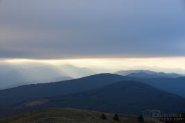 Sunrays over Shipka peak