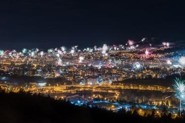 New Year's eve fireworks in Veliko Turnovo